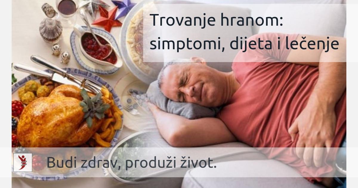 Trovanje hranom: simptomi, dijeta i lečenje