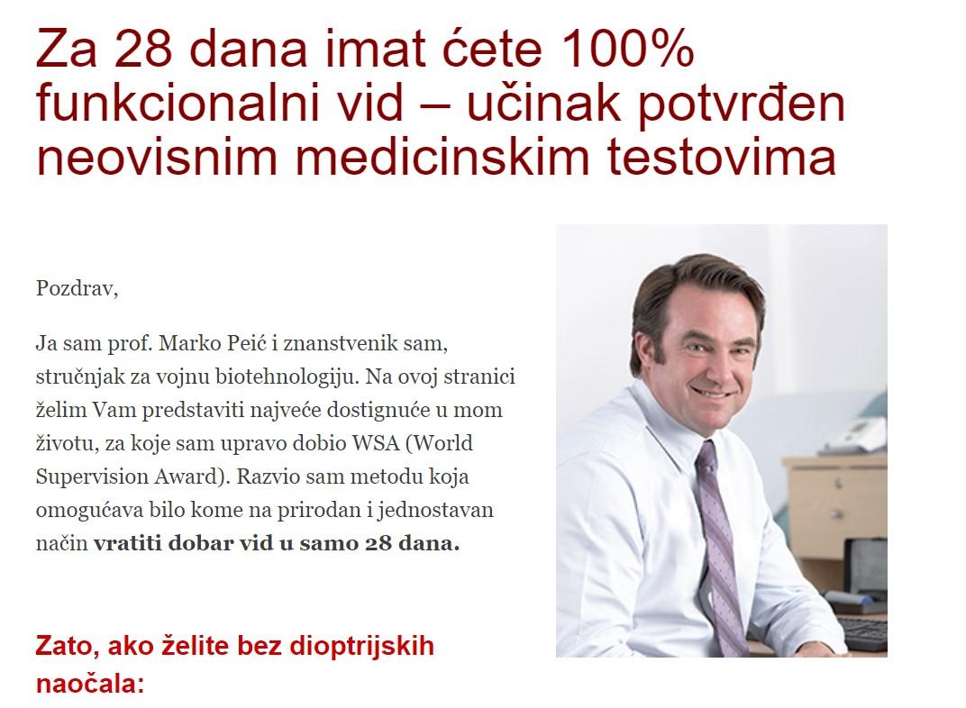 Rupičaste naočale Marko Peić