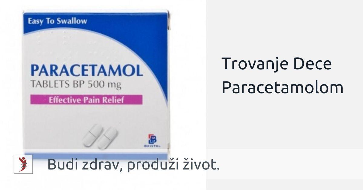 Trovanje Dece Paracetamolom; Foto: https://www.dailychemist.com/shop/cold_cough_flu/paracetamol-500mg-tablets-32-tablets/