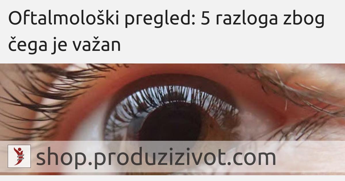 Oftalmološki pregled: 5 razloga zbog čega je važan; FOTO: http://www.palma-clinic.com/en/mallorca-doctors/oftalmologist