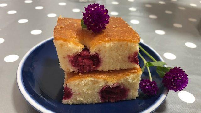 Pom poms - brzi kolač sa malinama (recept) 1