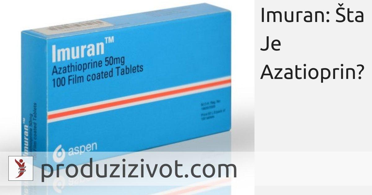 Imuran: Šta Je Azatioprin?; FOTO: https://m.indiamart.com/proddetail/imuran-tablet-20606220333.html