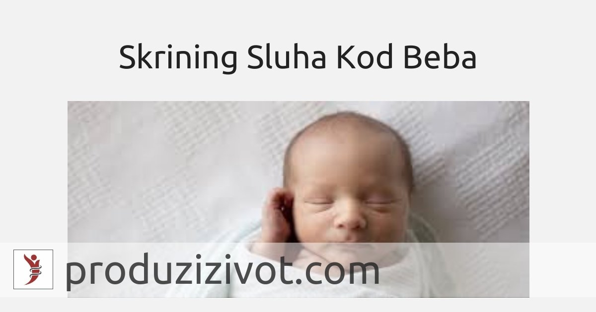Skrining Sluha Kod Beba; FOTO: https://www.bellababyphotography.com/